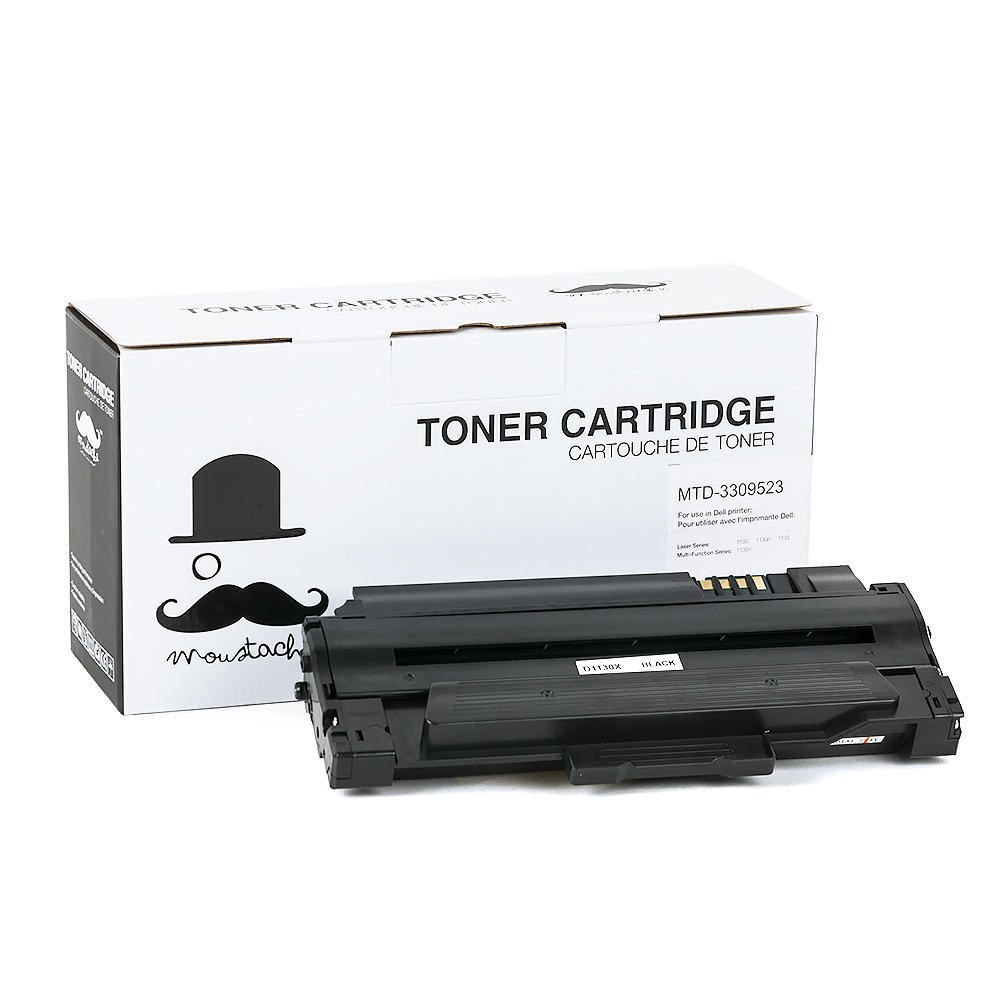 Dell 330-9523 (2MMJP / 7H53W) New Compatible Black Toner Cartridge (High Yield) - Moustache