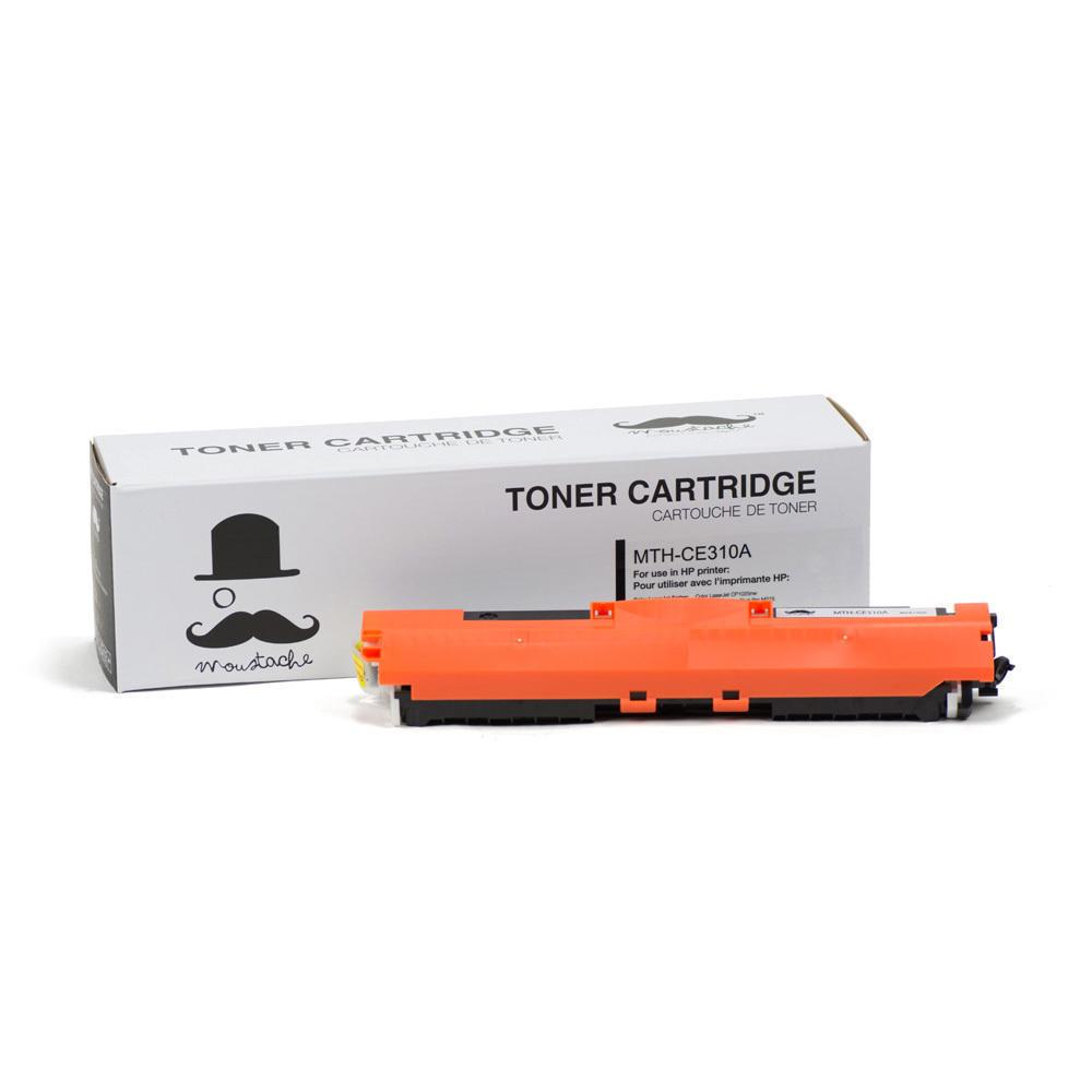 HP 126A CE310A New Compatible Black Toner Cartridge - Moustache