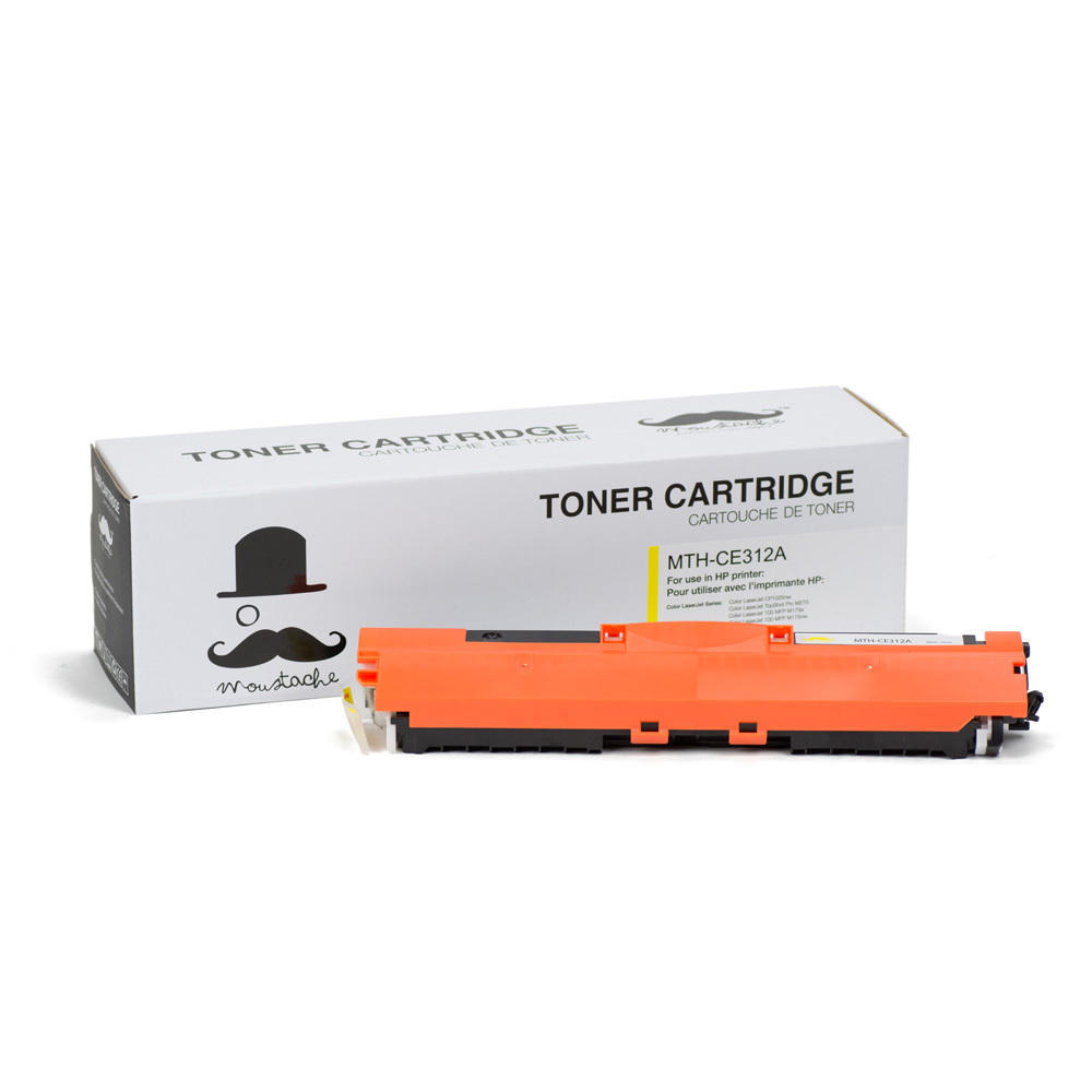HP 126A CE312A New Compatible Yellow Toner Cartridge - Moustache