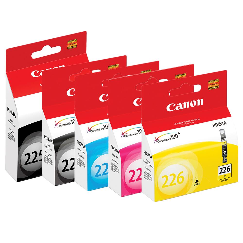 Canon PGI-225/CLI-226 Original Ink Cartridges Combo Set (PGI-225BK+CLI-226 BK/C/M/Y) Canon PGI-225-CLI226 OEM Combo Set
