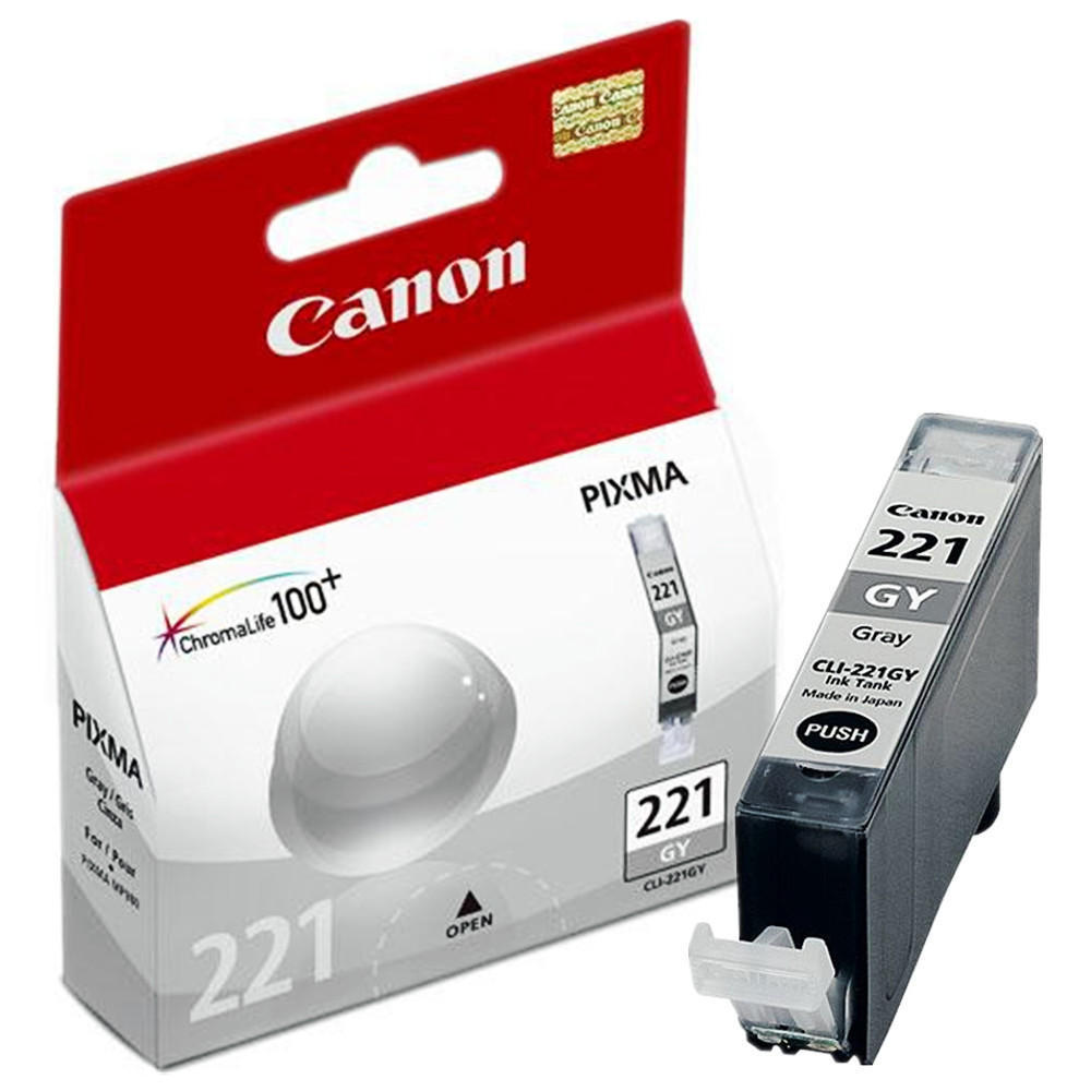 Canon CLI-221GY Original Gray Ink Cartridge CLI-221 Gray OEM