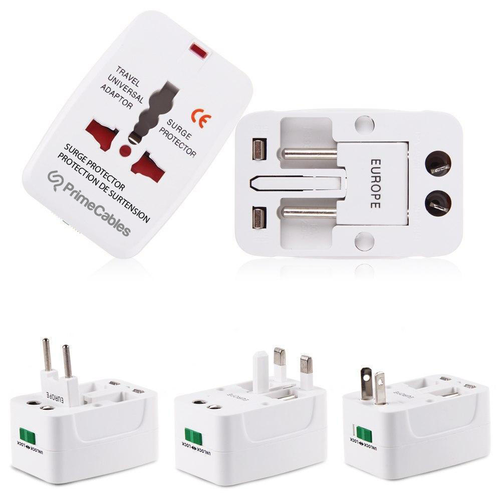 PrimeCables Universal Travel AC Adaptor All in One UK/US/AU/EU/CA Multi Plug Cab-TA-004
