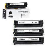 HP 128A New Compatible Combo Set Toner Cartridge - Moustache®