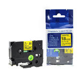 """Brother TZe-641 Label Tape, 18mm (0.7""""), Black on Yellow, Compatible"""