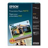 "EPSON S041062 100 Sheets Presentation Paper Matte, 8.5"" x 11"""
