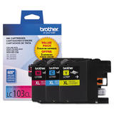Brother LC1033PKS Original C/M/Y Ink Cartridges Combo Set (High Yield)