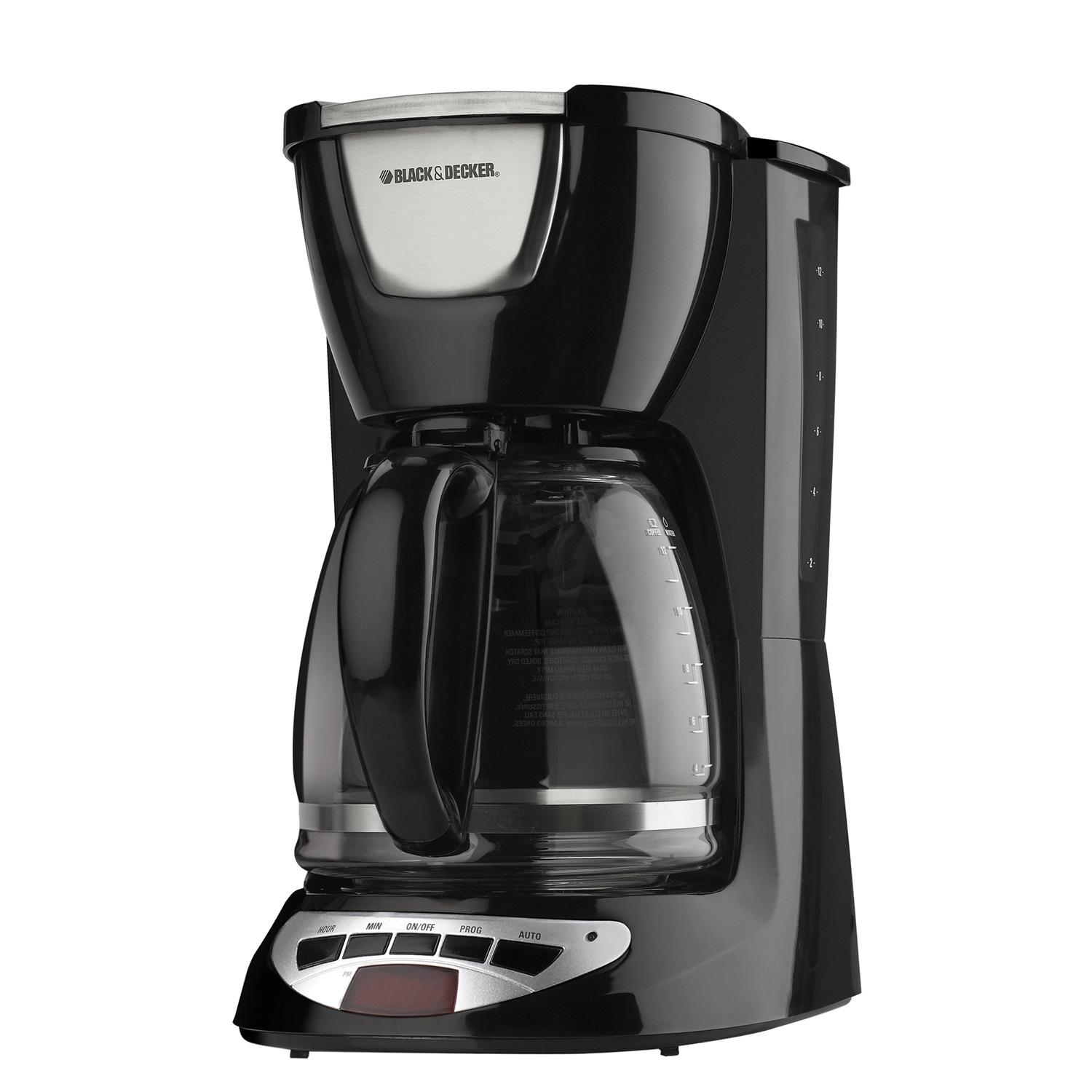 Black & Decker 12 Cup Black Programmable Coffee Maker (DCM100BC) 983-DCM100BC