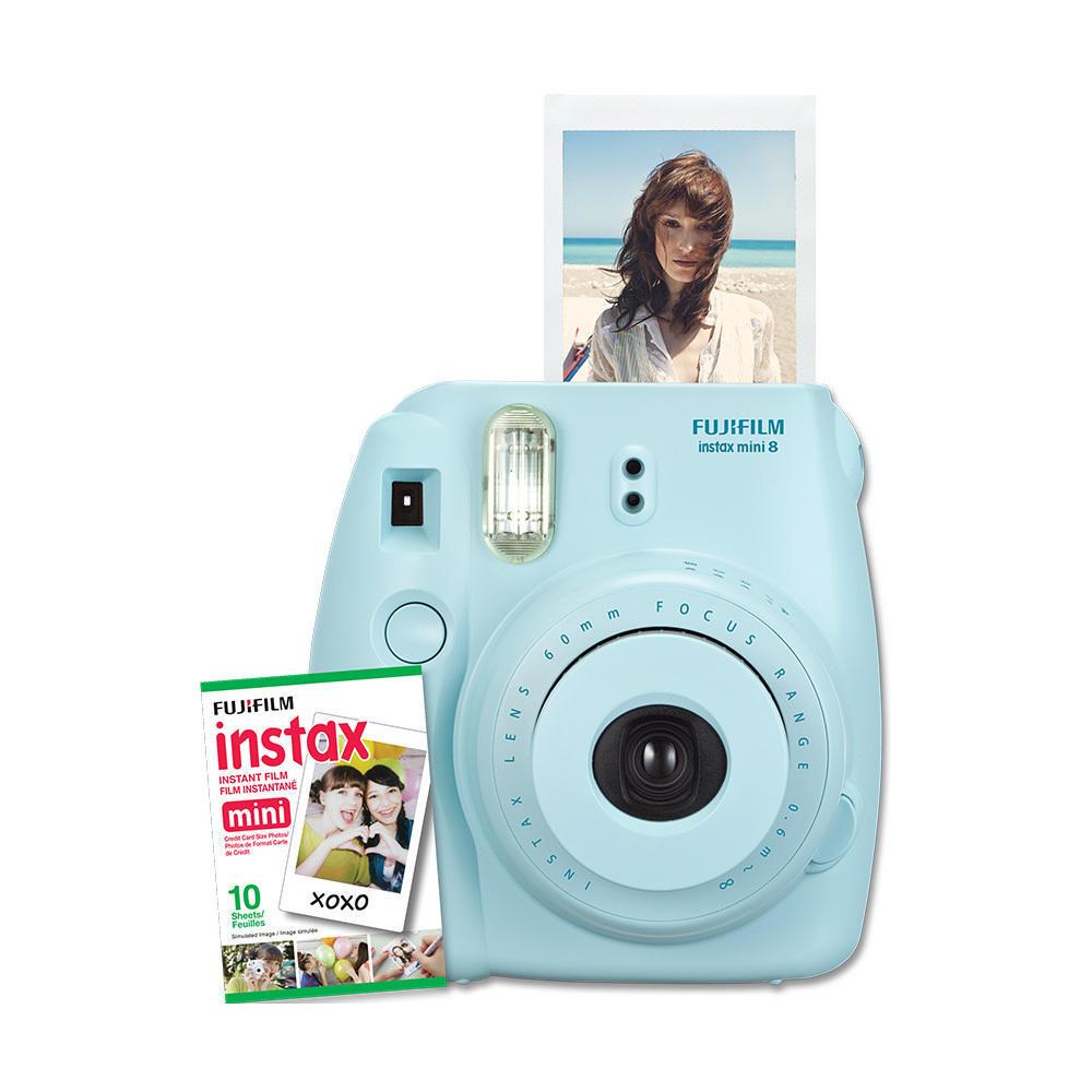 Fujifilm Instax Mini 8 Instant Film Camera Kit- Blue