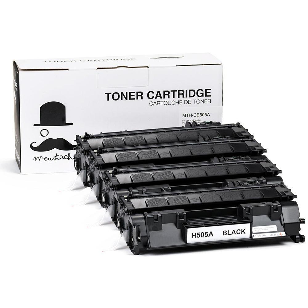 HP CE505A New Compatible Black Toner Cartridge(HP 05A)- Moustache