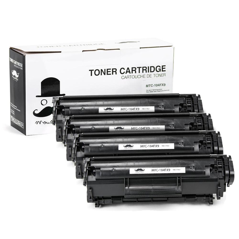 Canon FX9 (FX10) New Compatible Black Toner Cartridge 4 Pack - Moustache