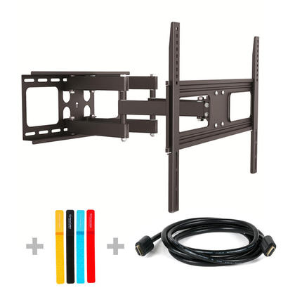 "[Primecables.com]Full Motion Wall Mount for TV 37""- 70"" with 6ft HDMI Cable & Organizers $48.99 FS"