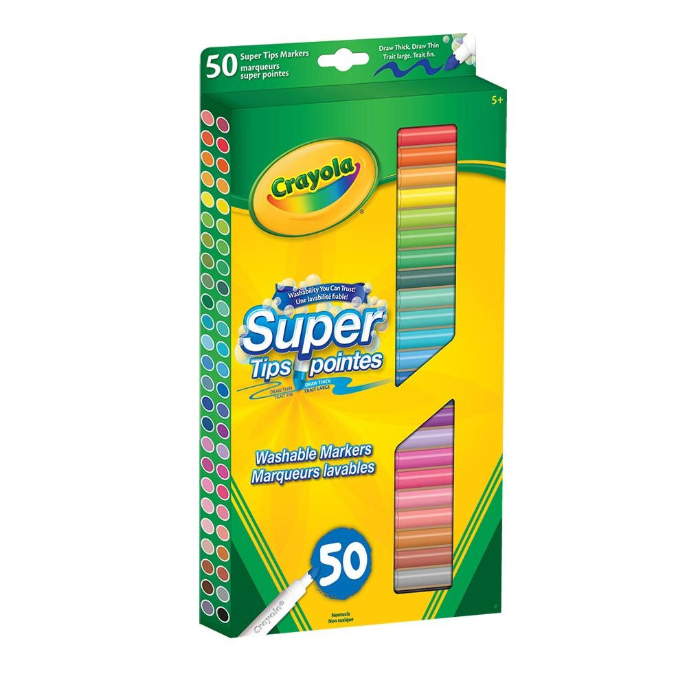 Crayola Super Tips Washable Markers - 50/Pack 145-56-8150