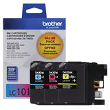 Brother LC101 Original 3-Colour-Pack Ink Cartridges
