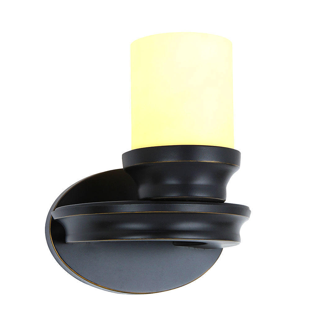 Candle Black Painting Finish 1 Light Wall Lamp Retro Style