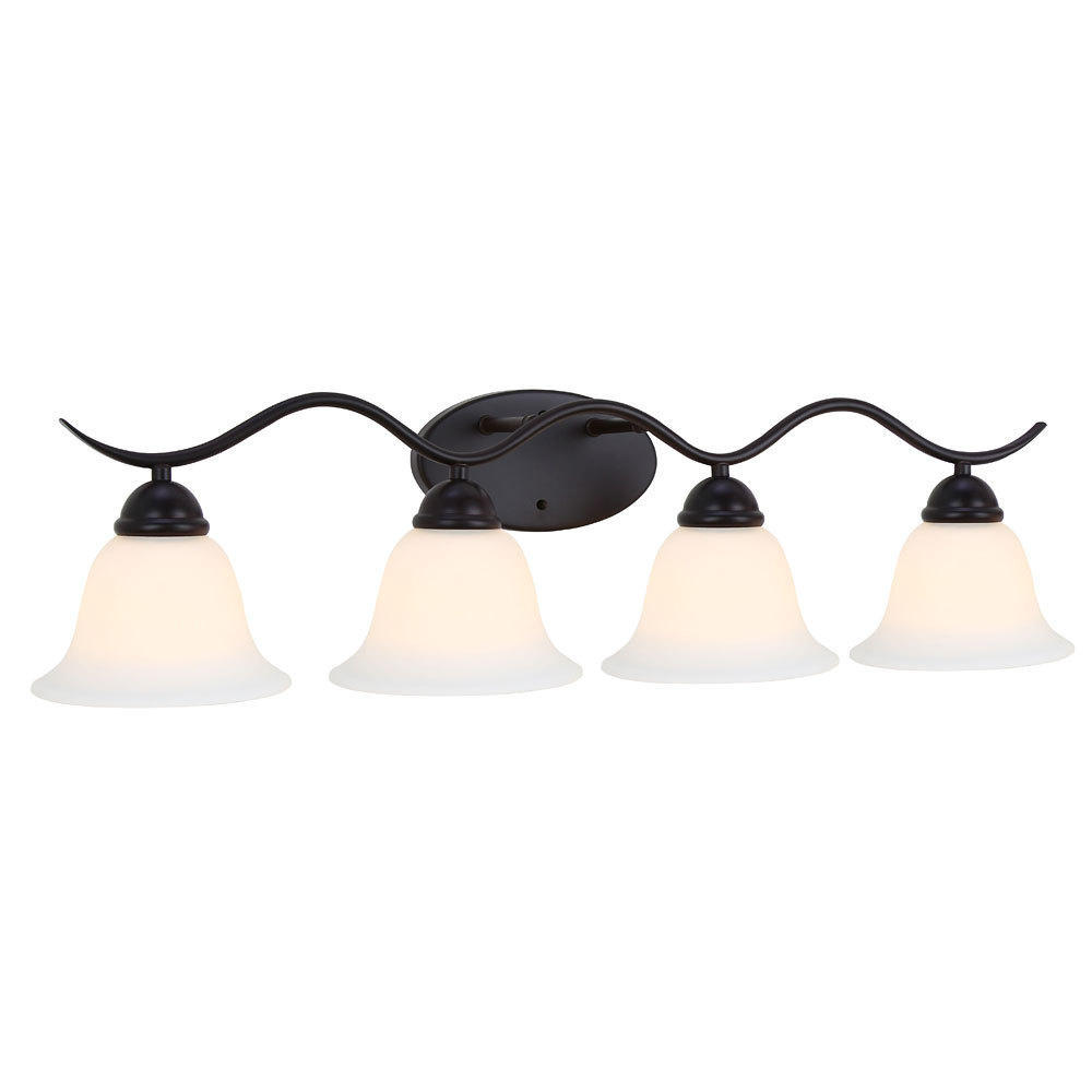 Wave Black Painting Finish 4 Lights Wall Lamp Contemporary Lighting