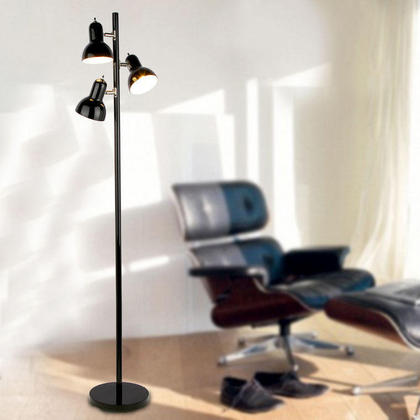 Black painting iron 3 lights tree floor lamp at for Tree floor lamp canada