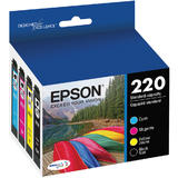 Epson T220 (T220120-BCS) Original DURABrite Ultra Black & Color Combo-Pack Ink Cartridges