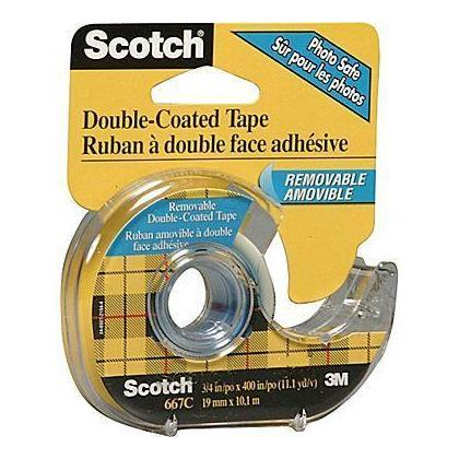 3m scotch double sided transparent tape removable at. Black Bedroom Furniture Sets. Home Design Ideas