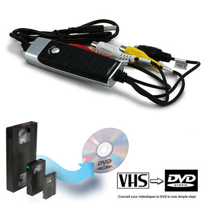 USB 2.0 Video Grabber with Audio, VHS to DVD Conversion Kit | 123InkCartridges Canada