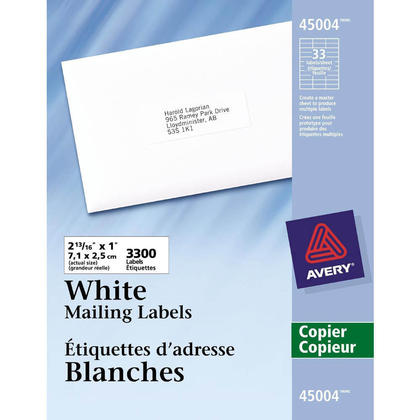 Avery white mailing address labels for copiers white for Staples white mailing labels template