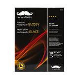 "Moustache® 20 Sheets Premium Photo Paper, Glossy, 8.5"" x 11"" (H250)"