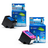 Remanufactured HP 901XL BK & 901 Color Ink Cartridges Combo (CC654AN and CC656AN) - G&G™