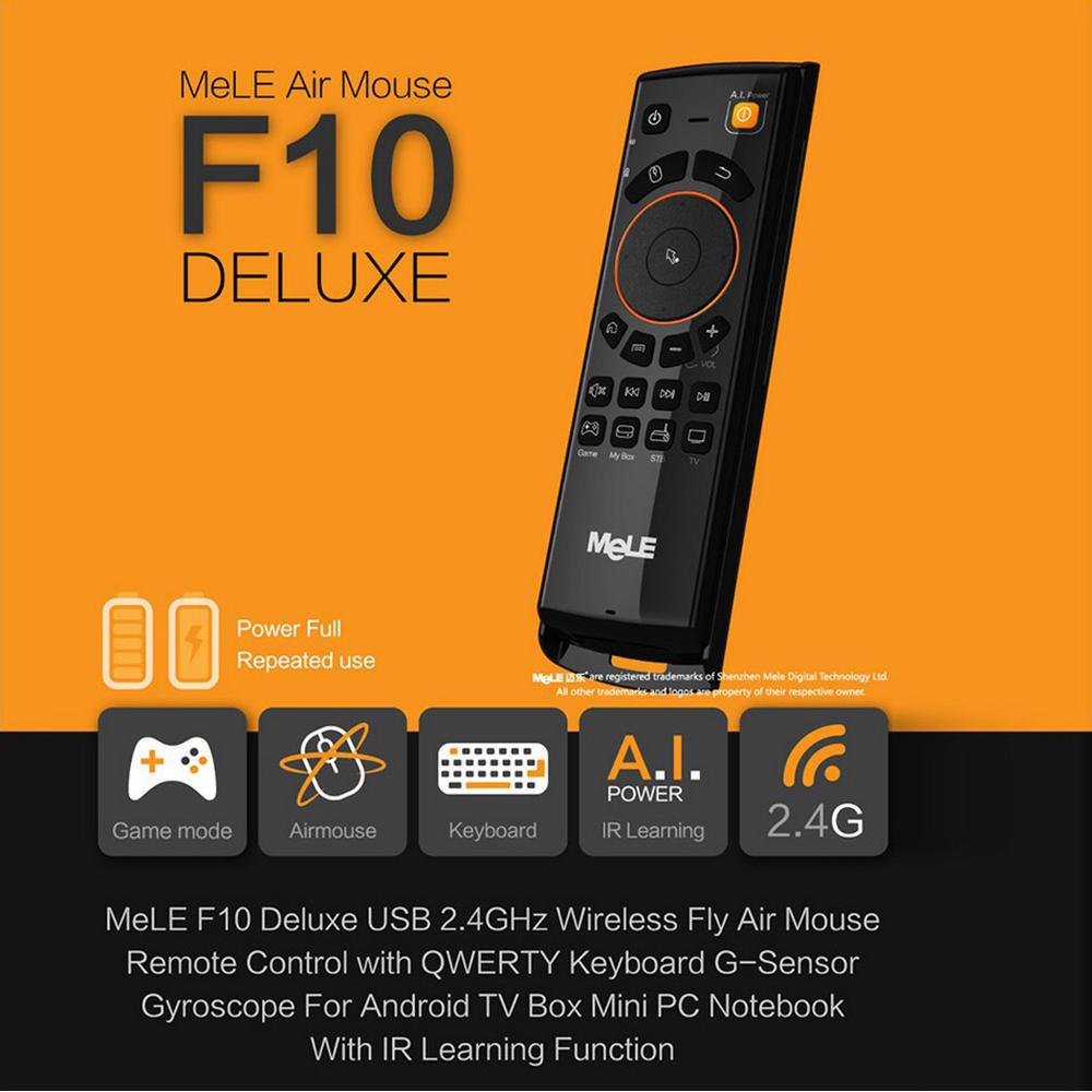 MELE F10 2.4GHz G-sensor Gyroscope IR  fly keyboad Mouse Wireless Remote Control Keyboard GZA-00371