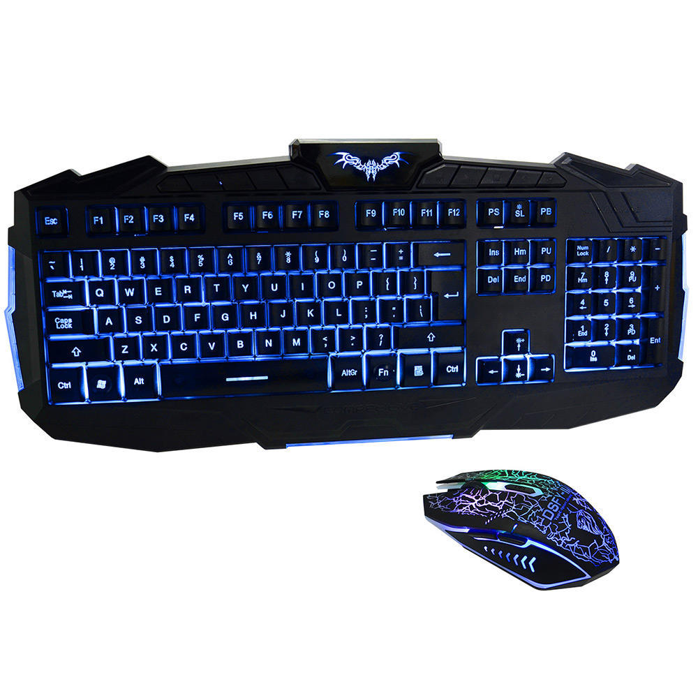 DSFY Ergonomic Three Adjustable Color with Luminous Gaming Keyboard and Mouse set-V600