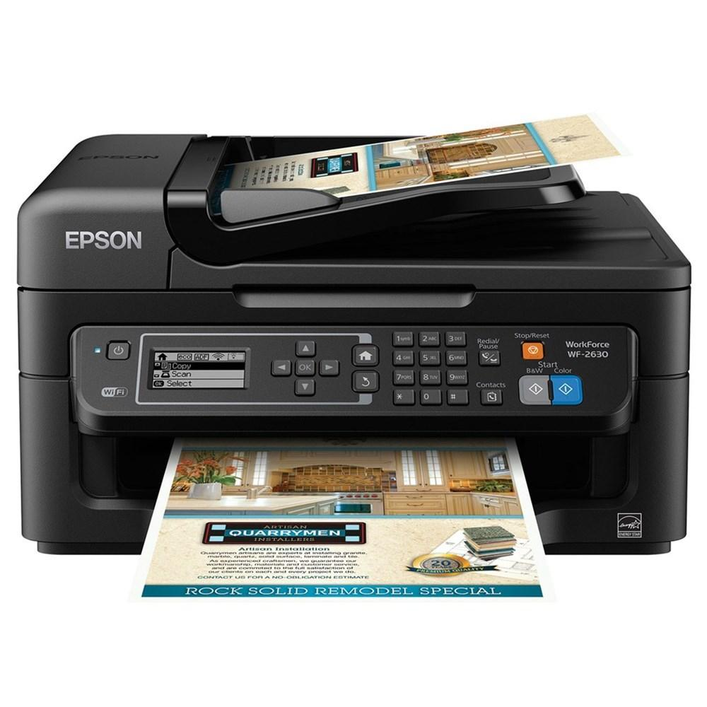 Epson WorkForce WF-2630 Wireless Color Inkjet Printer with Scanner, Copier and Fax