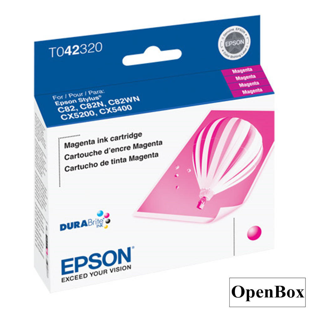 Epson T042320 Original Magenta Ink Cartridge - Open Box