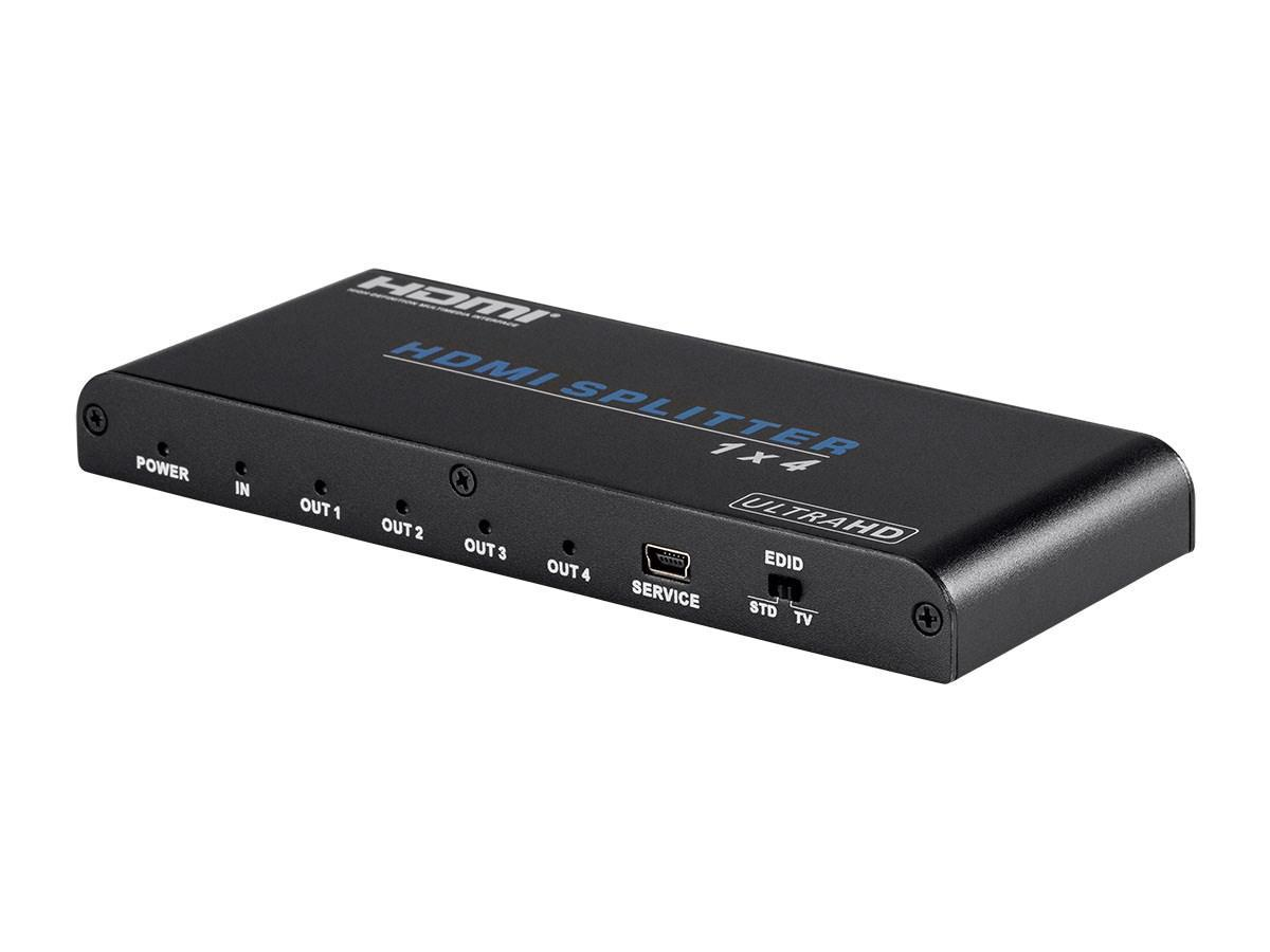 Blackbird 4K Pro 1x4 HDMI Splitter with HDCP 2.2 and EDID Support