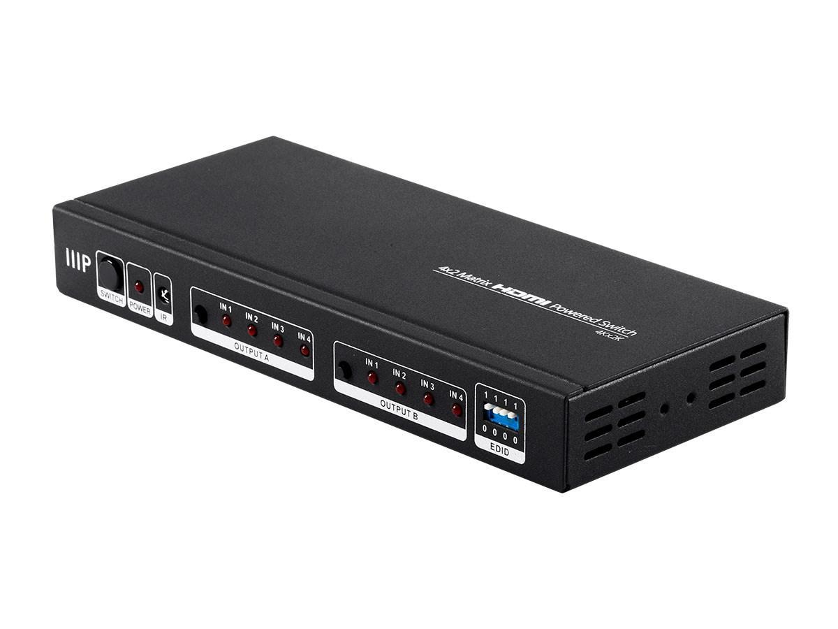 Blackbird 4K 4x2 Matrix HDMI Powered Switch with Remote Control