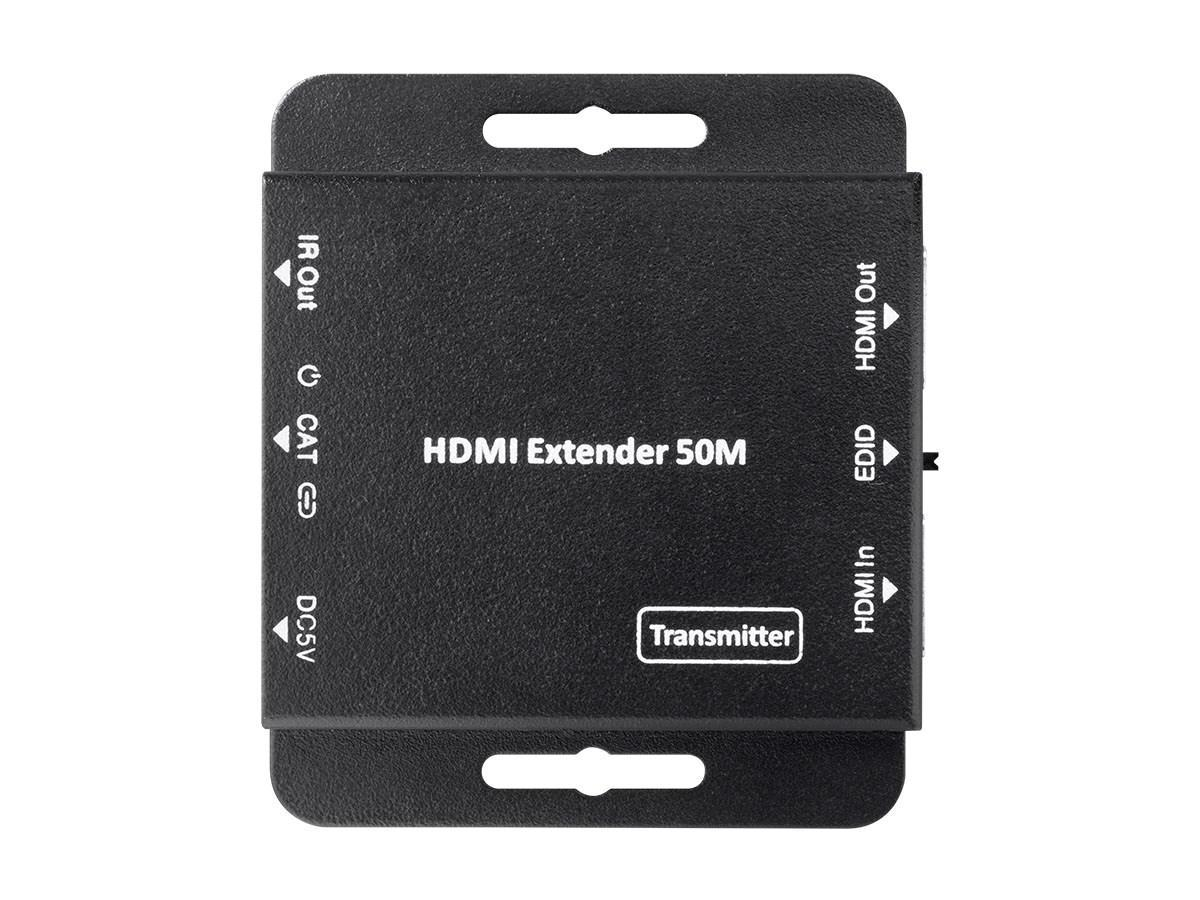Blackbird AV Ultra Slim HDMI Extender with HDMI Loop Out, EDID, PoC, and IR Control, 50 meters