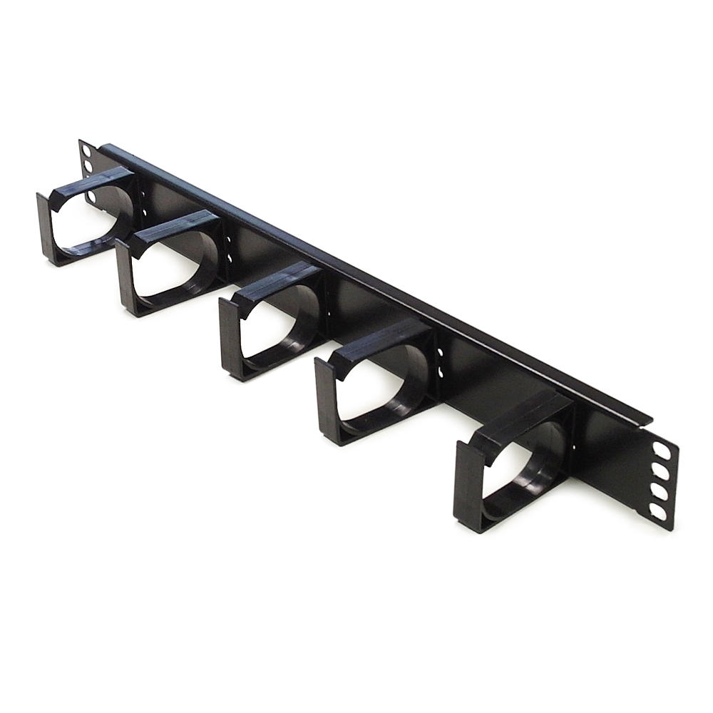 1U 19-Inch Rackmount Cable Management Panel, 5 D-Rings