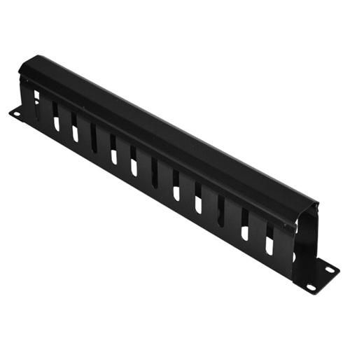 1U 19-Inch Rackmount Cable Management Panel, Duct Type