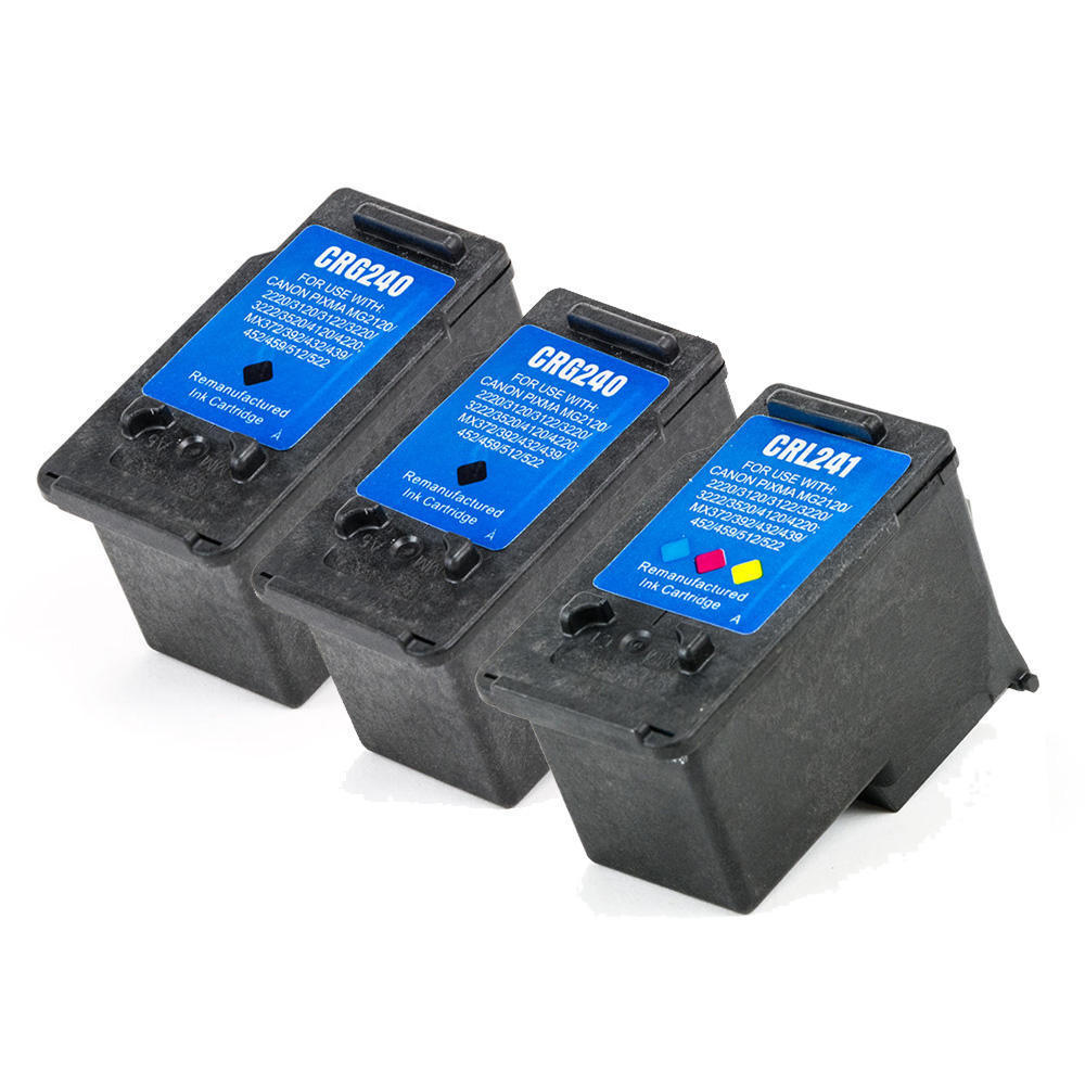 Canon PG-240 & CL-241 Remanufactured Ink Cartridge Combo Set II PG240-CL241-3-Pack-Combo