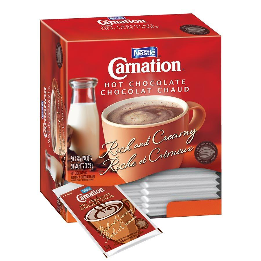 Nestlé Carnation Hot Chocolate, 50 Packets, 1400g 157-13NE109