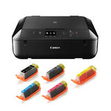 Canon PIXMA MG5720 Photo All-in-One Inkjet Printers with PGI-270XL & CLI-271XL Ink Cartridges Combo