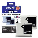 Brother LC512PKS Original Black Ink Cartridges (LC51BK x 2)