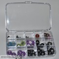 Slot Fox Storage Box 6X4 w/15 round bottom compartments