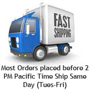 Huge Inventory, Most orders ship same day