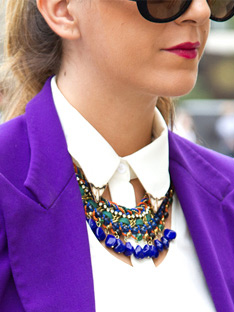 The New Way to Wear<br> a Bold Necklace