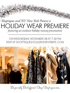 Shoptiques You're Invited to a Holiday Wear Premiere!