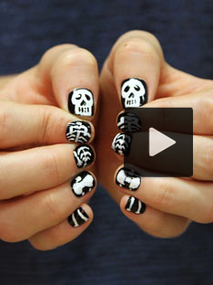 Shoptiques DIY Skeleton Nail Tutorial for Halloween