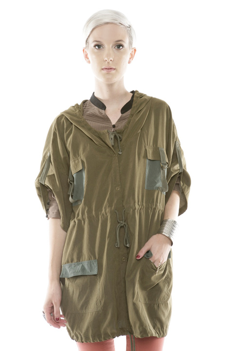 Shoptiques SlideShow Drawstring Army Jacket