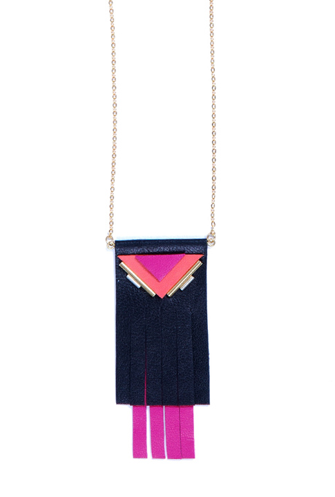 Shoptiques SlideShow Long Leather Necklace