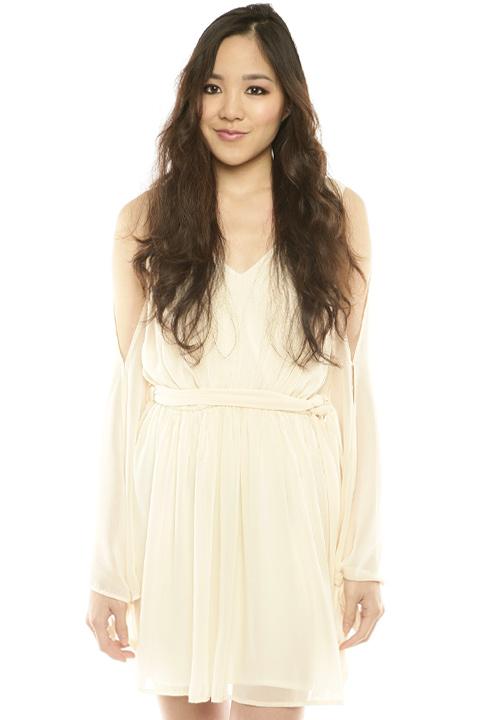 Shoptiques SlideShow Open-Sleeve Dress