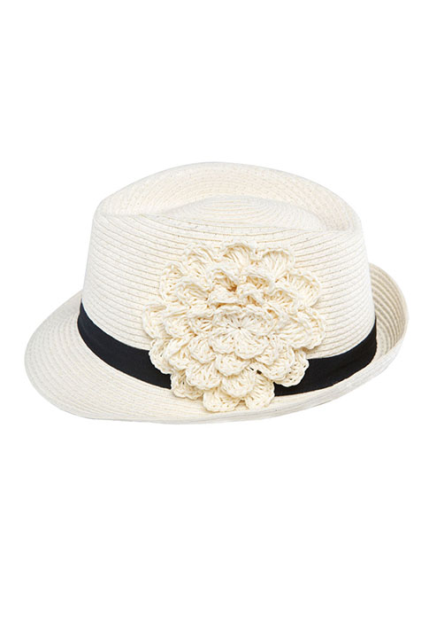 Shoptiques SlideShow Flower Fedora