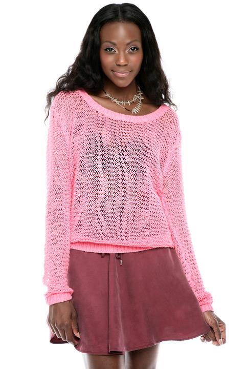 Shoptiques SlideShow Loose-Knit Sweater