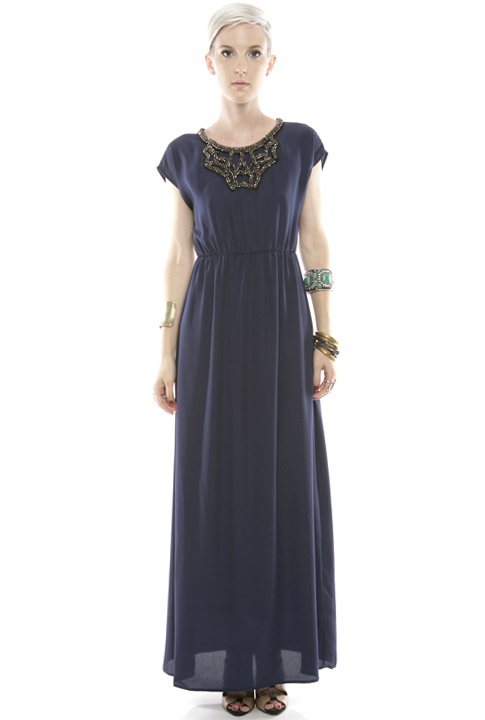 Shoptiques SlideShow Beaded Maxi Dress
